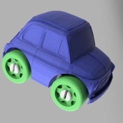 Download free 3D printing templates Fiat 500 - Duplo Compatible, MixedGears