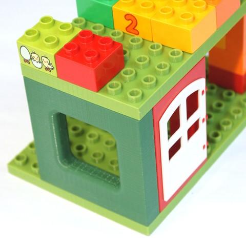 Objet 3d gratuit lego duplo mur de briques compatible - Modele lego gratuit ...