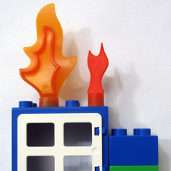 Free LEGO Duplo Style Mini Fire STL file, MixedGears