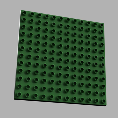 Free 3d printer files LEGO DUPLO compatible base 12 x 12 - 1/2 height, MixedGears