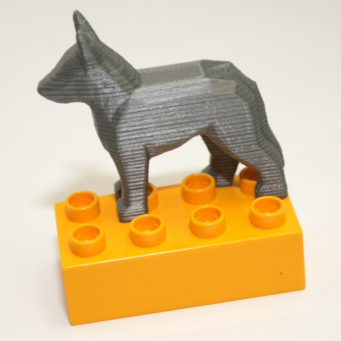 Free 3D printer designs Duplo Compatible German Shepard Dog, MixedGears