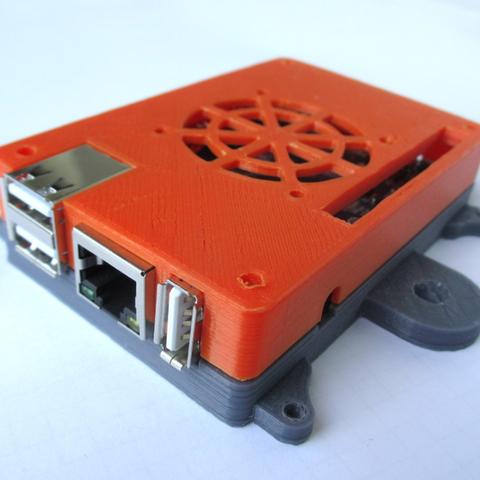 Free stl Orange PI PC Case with External mounts + M5 mount, MixedGears