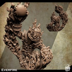 3d-printable-fire-elemental-miniature-2.jpg Download STL file Support Free Giant Fire Elemental Miniature Everfire • 3D printing object, Nello