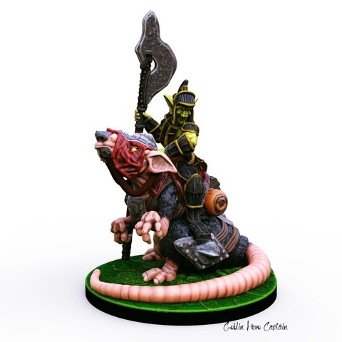 3D printer models Goblin Hero Captain miniature, Nello