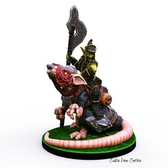 Download STL files Goblin Hero Captain miniature, Nello