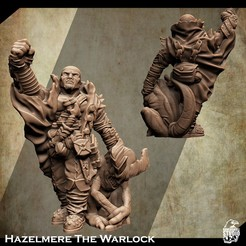 3d-printable-warlock-miniature-2.jpg Download STL file Support Free Warlock Miniature Hazelmere • Design to 3D print, Nello
