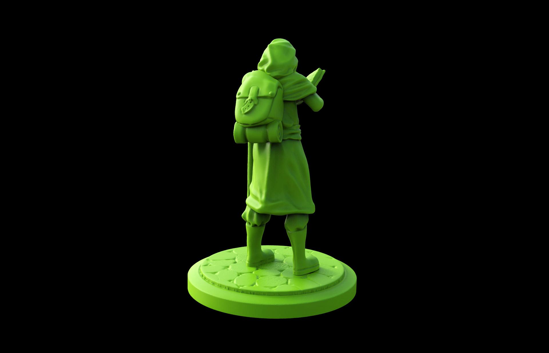 3d-printable-Wizard-Apprentice-miniature-back-view.jpg Download STL file Wizard Apprentice Miniature • 3D printer design, Nello