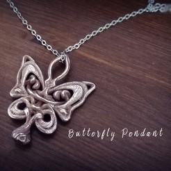 Download 3D printing designs Butterfly Pendant, Nello