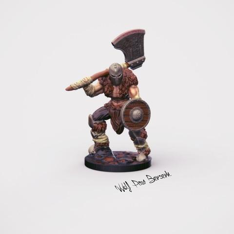 3D printing model 32mm miniature Wolf Paw Berserk, Nello