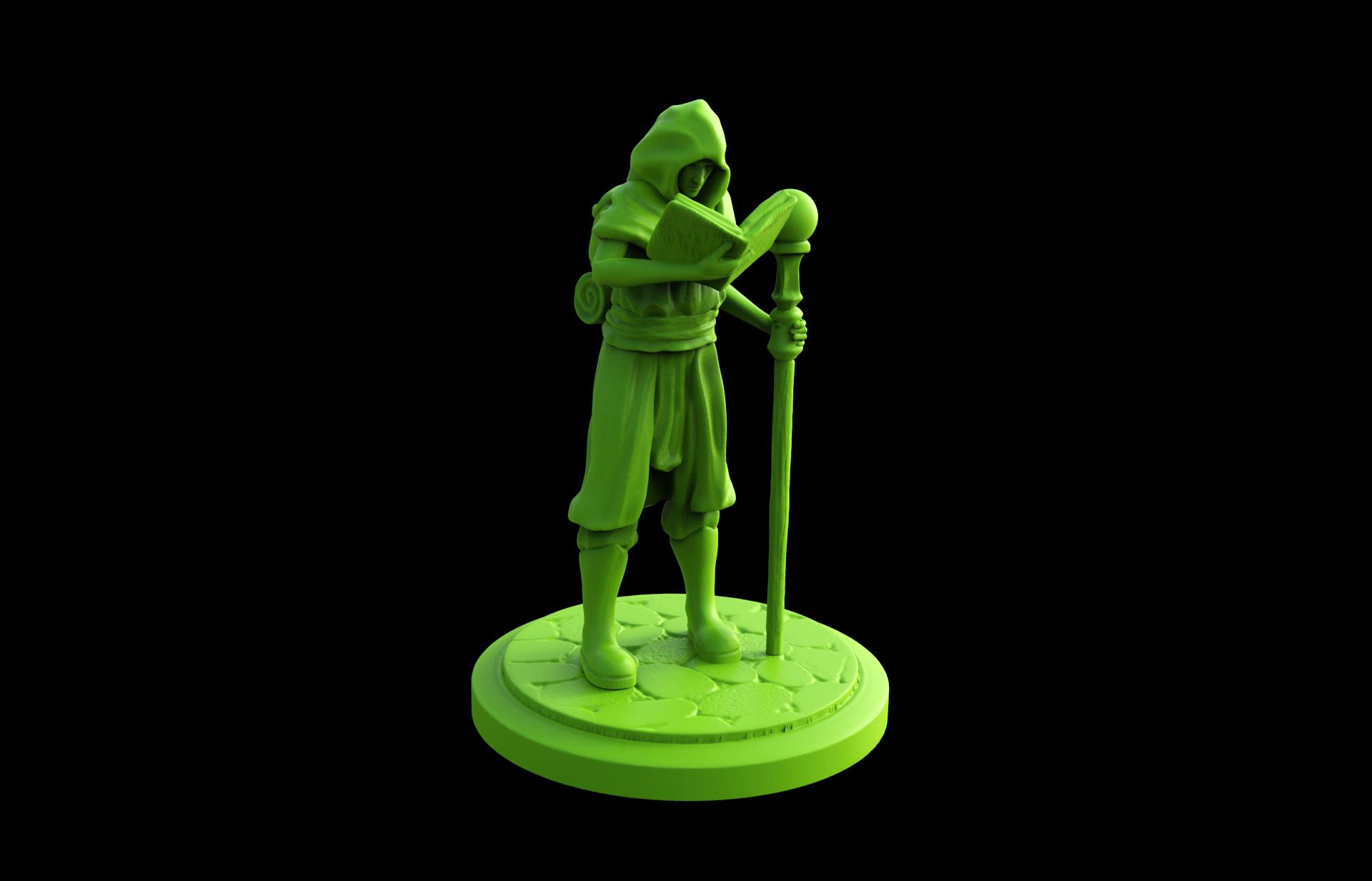3d-printable-Wizard-Apprentice-miniature-front-view.jpg Download STL file Wizard Apprentice Miniature • 3D printer design, Nello