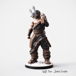 3D printing model Nordic Hunter miniature, Nello