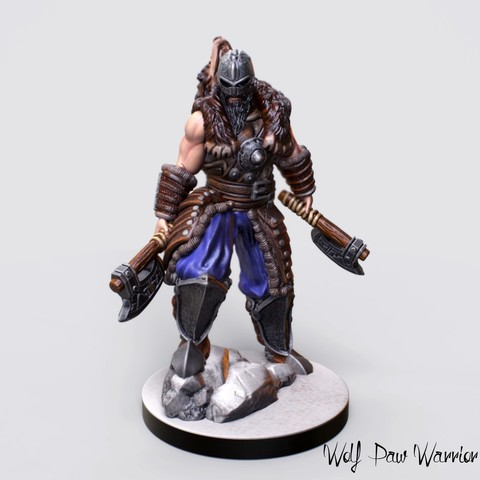 3D printer files Printable Nordic Warrior Miniature, Nello