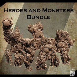 3d-printable-miniature-2.jpg Download STL file Support Free Heroes and Monsters Bundle • 3D printable template, Nello