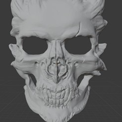 Download STL file Halloween Demon Skull Mask, LordLilapause