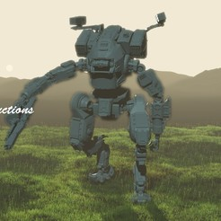 Download 3D printer model BT 7274 Titanfall Mech, LordLilapause