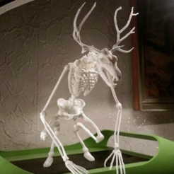 Free 3D print files Unknown Creatures N° 1 - Wendigo Skeleton, LordLilapause