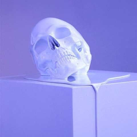 Download free STL Melting Skull, LordLilapause