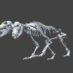 3D printing model Unknown Creatures - Cerberus Skeleton, LordLilapause
