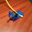 Download STL file mini toggle switch mounting bracket. • 3D printer object, Cadfinger