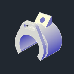 Download 3D printing designs Bridge Hammock Clip, Cadfinger
