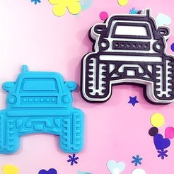 Download 3D printer designs Cookie cutter Jeep, kikenana