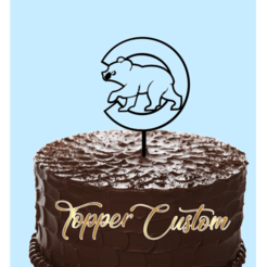 Download 3D printer templates Topper Cake Cubs, kikenana