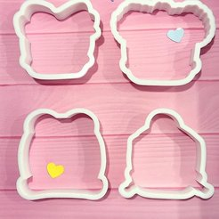 Download 3D printing models cookie cutters  4 PCS Dolls lol surprise, kikenana