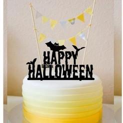 Download 3D printing designs Cake Topper halloween, kikenana