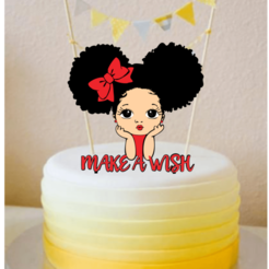girl topper cake.png Download STL file Topper cake girl make a wish • 3D printing model, kikenana