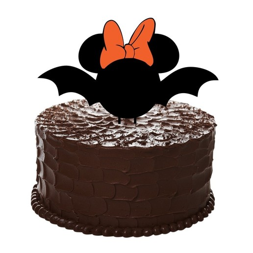 Download free 3D printing models Topper Cake Bat Minnie Mouse, kikenana
