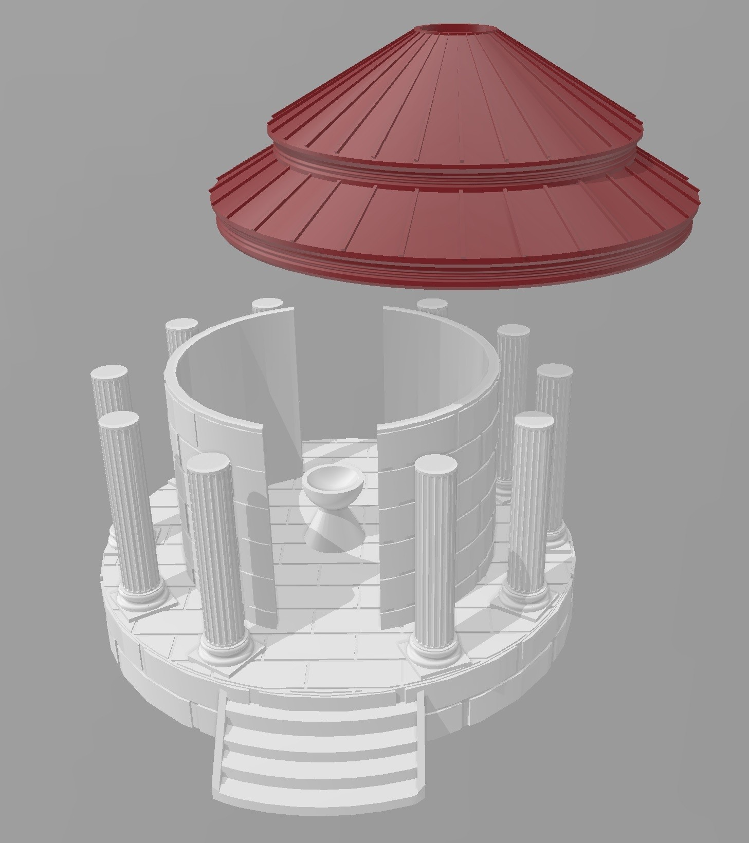 Temple de l'eau.jpg Download STL file Ancient city - Wargame • 3D printer object, Eskice