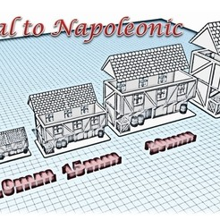 Download STL files House 6 - Medieval Wargame at Napoleon, Eskice