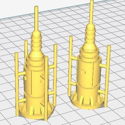 Antennes 1 et 2.jpg Download STL file Star Wars Legion: Battlefield Scenery! • 3D printing object, Eskice