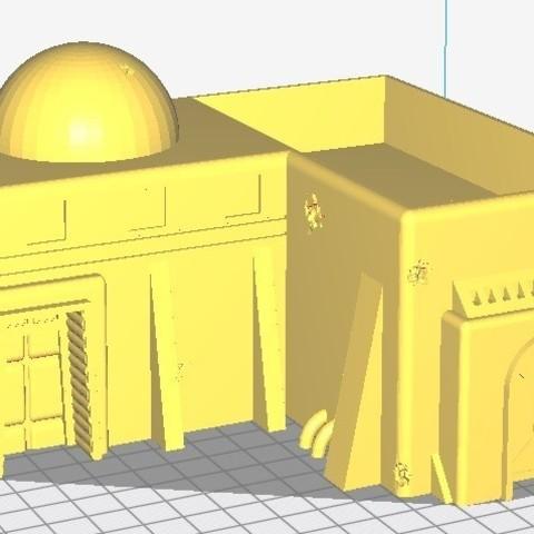 Grande maison.jpg Download STL file Star Wars Legion: Battlefield Scenery! • 3D printing object, Eskice