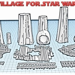 Village ewok presentation.jpg Download STL file Star Wars Legion: Ewok Decorations for Endor! • 3D printer object, Eskice