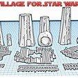 Village ewok presentation.jpg Download STL file Star Wars Legion: Ewok Decorations for Endor! • 3D printer object, Eskice