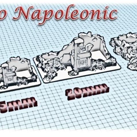 Ruined house - Medieval to Napoleonic.jpg Download STL file Ruined House 1 - Medieval Wargame in Napoleon • 3D printing design, Eskice