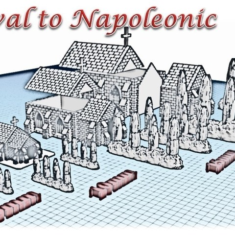 Stl Files Church Medieval Wargame In Napoleon Cults