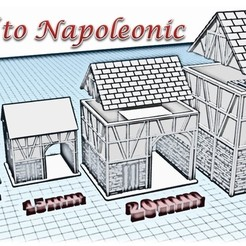 STL files House 3 - Medieval Wargame at Napoleon, Eskice