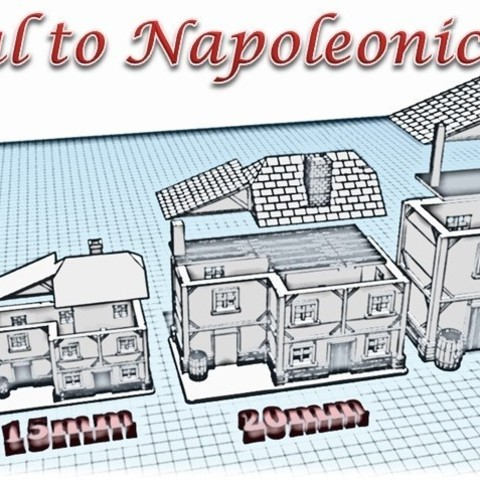 3D print files House 1 - Medieval Wargame at Napoleon, Eskice