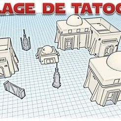 Village de tatooine - Star wars legion.jpg Download STL file Star Wars Legion: Battlefield Scenery! • 3D printing object, Eskice