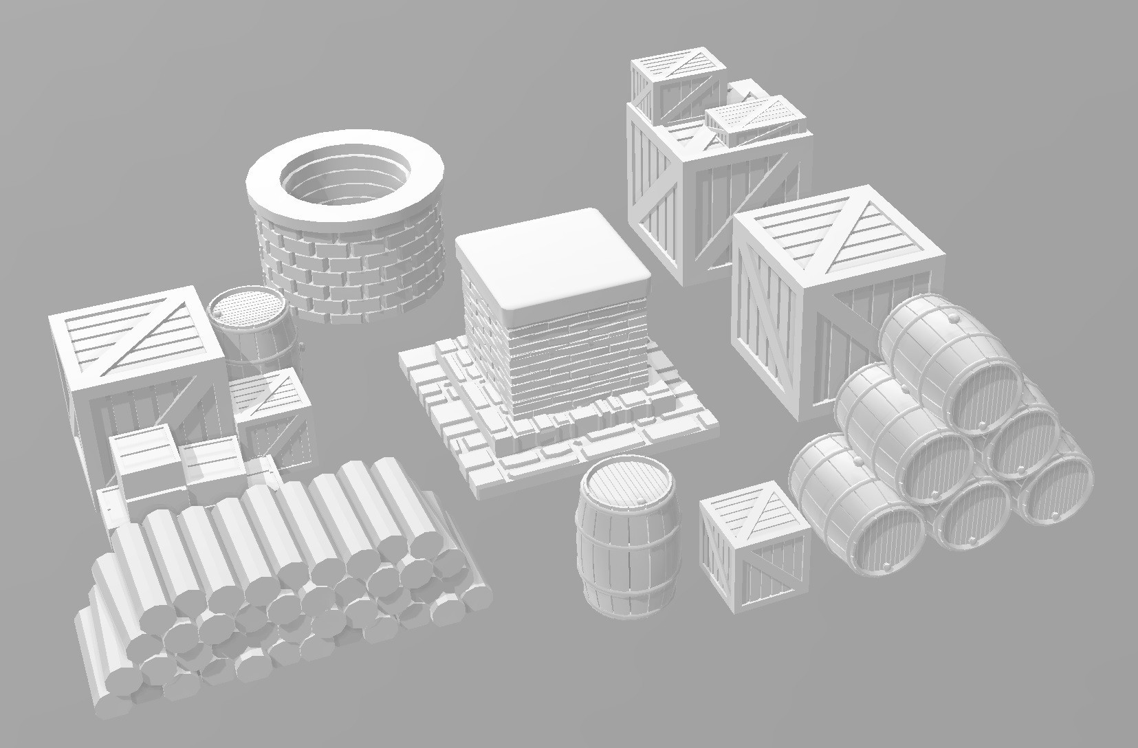 Petits accessoires.jpg Download STL file Ancient city - Wargame • 3D printer object, Eskice