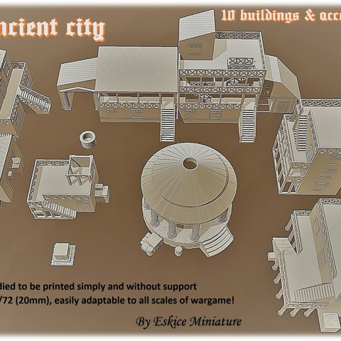 Affiche 2.jpg Download STL file Ancient city - Wargame • 3D printer object, Eskice