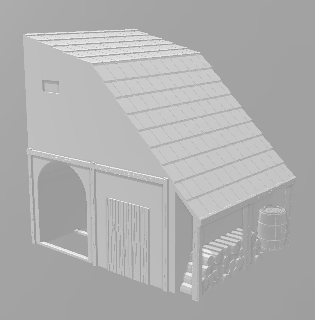 Petite extension maison.jpg Download STL file Ancient city - Wargame • 3D printer object, Eskice