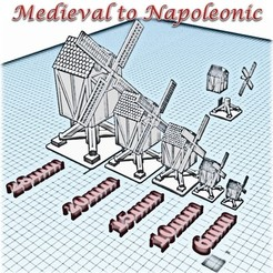 Download 3D printer templates Windmill - Medieval Wargame in Napoleon, Eskice