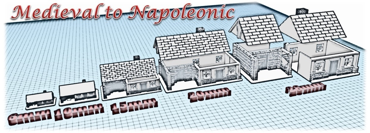 House 2 - Medieval to Napoleonic.jpg Download STL file House 2 - Medieval Wargame at Napoleon • Object to 3D print, Eskice