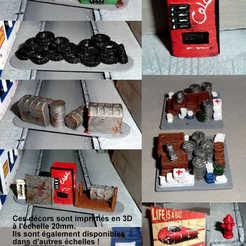 Modèle 3D Barricades et accessoires de jeux de figurines zombies - Wargame - Set 1, Eskice