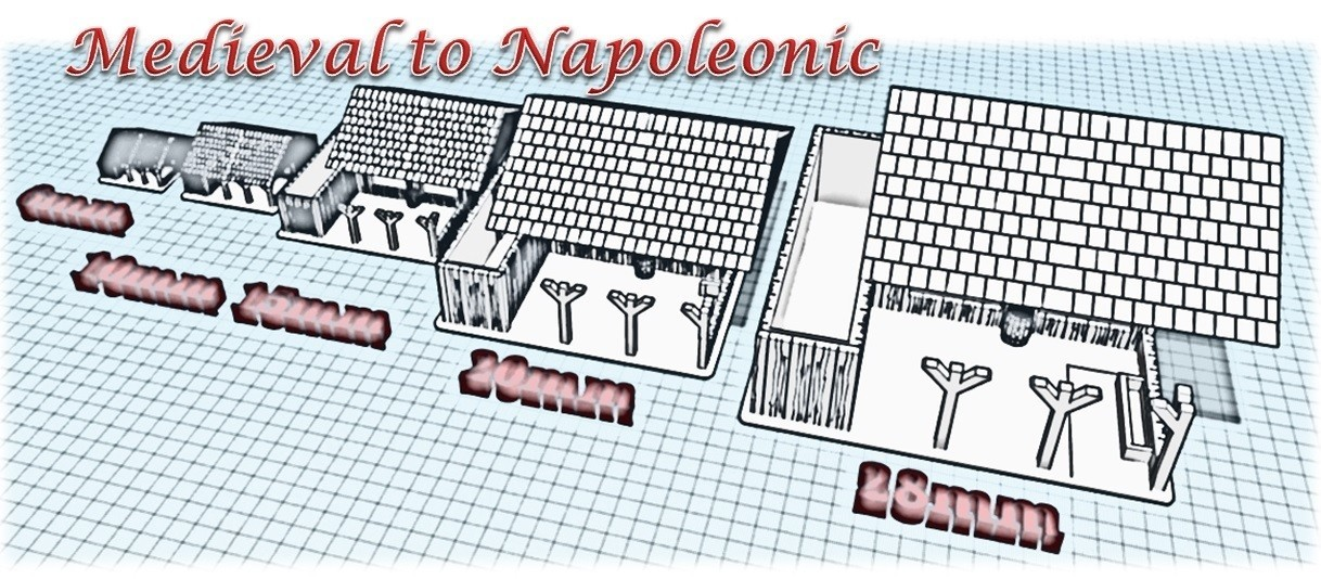 Stable - Medieval to Napoleonic.jpg Download STL file The Stable - Medieval Wargame at Napoléon • 3D printable design, Eskice