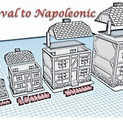 Download STL House 4 - Medieval Wargame at Napoleon, Eskice