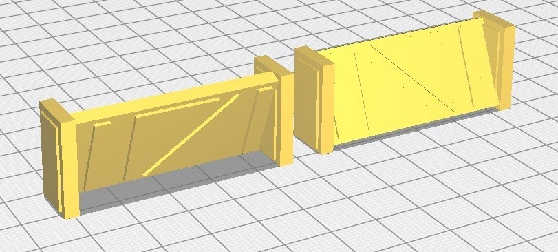 Barricade.jpg Download STL file Star Wars Legion: Battlefield Scenery! • 3D printing object, Eskice